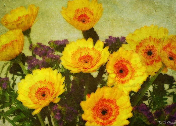 Bouquet Greeting Card featuring the photograph Lots of Daisies by Keith Gondron