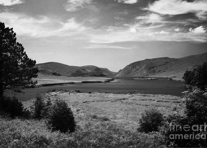 County Greeting Card featuring the photograph lough beagh glenveagh national park county Donegal Republic of Ireland by Joe Fox