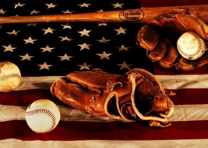 American Pastime Photographs Greeting Cards