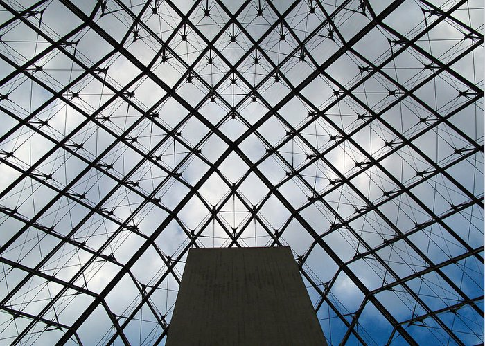 Louvre Greeting Card featuring the photograph Louving It Up by Joe Schofield