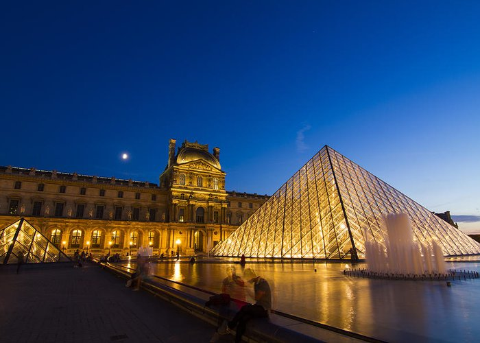 Ancient Greeting Card featuring the photograph Louvre by Mircea Costina Photography