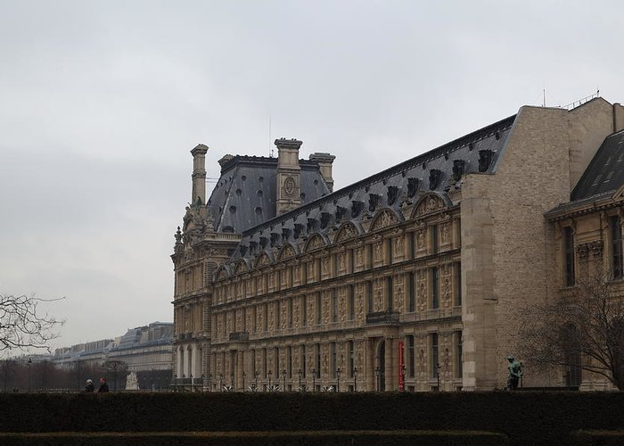Paris Greeting Card featuring the photograph Louvre - Paris France - 011319 by DC Photographer