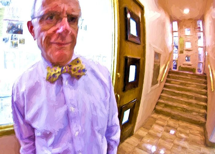 Man Greeting Card featuring the photograph Love His Bow Tie by Alice Gipson