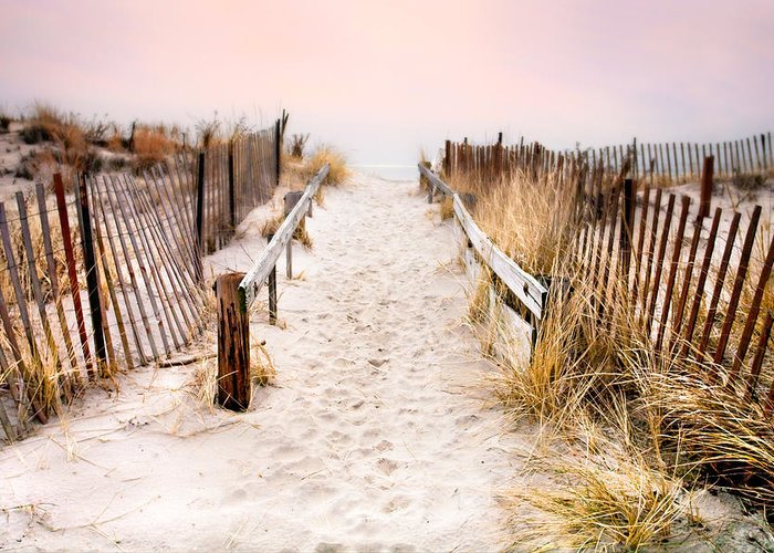 Love Greeting Card featuring the photograph Love Is Everything - Footprints In The Sand by Gary Heller