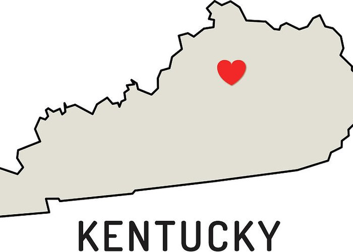 Design Element Greeting Card featuring the digital art Love Kentucky State by Chokkicx