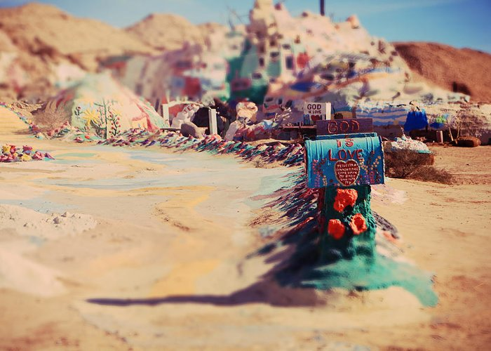 Salvation Mountain Greeting Card featuring the photograph Love Letters by Laurie Search