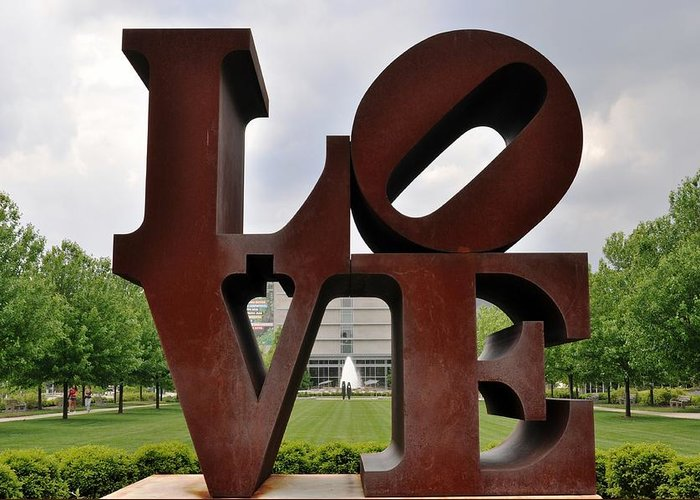 Indianapolis Art Muesum Greeting Card featuring the photograph Love by Pamela Schreckengost