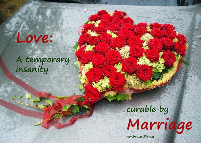 Heart Made Of Rose Greeting Cards