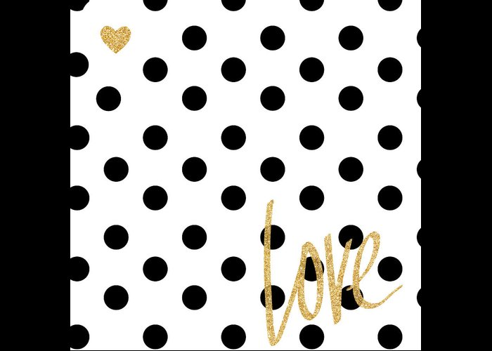 Love Greeting Card featuring the digital art Love With Dots by South Social Studio