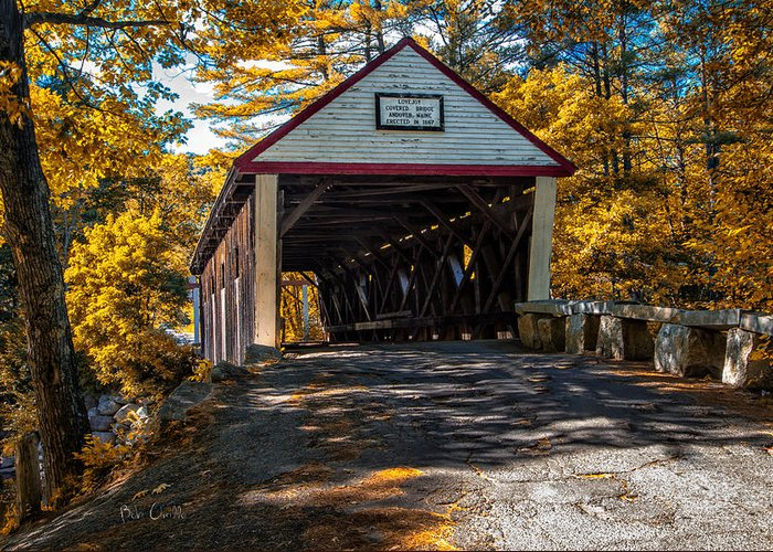 Covered Bridge Greeting Card featuring the photograph Lovejoy Covered Bridge by Bob Orsillo
