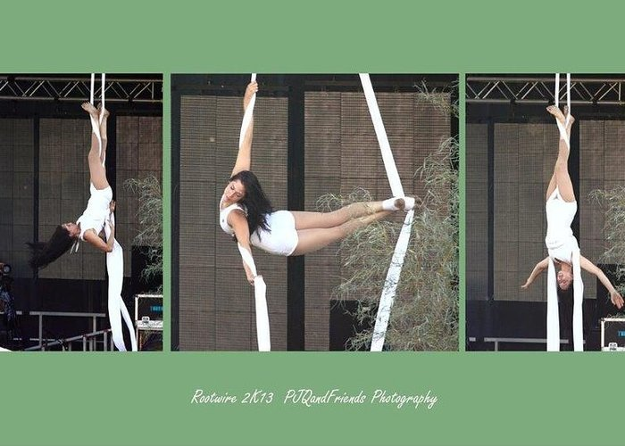 Rootwire Music And Arts Festival 2k13 Greeting Card featuring the photograph Lovely In White by PJQandFriends Photography