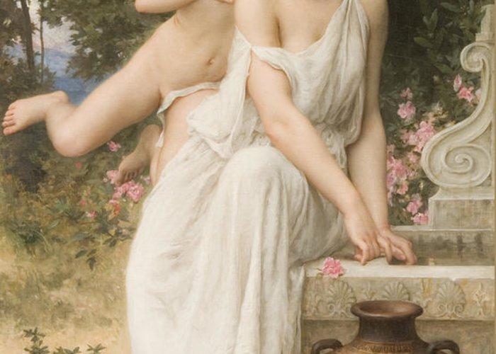 Love's Whisper Greeting Card featuring the digital art Loves Whisper by Charles Lenoir