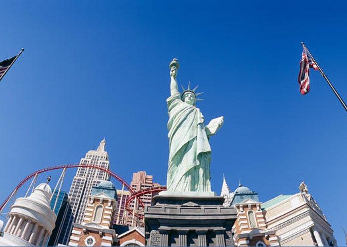 Sky View Of Las Vegas Greeting Cards
