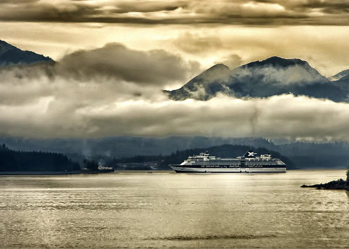 Glacier Greeting Card featuring the photograph Low Clouds - Half Speed by Jon Berghoff