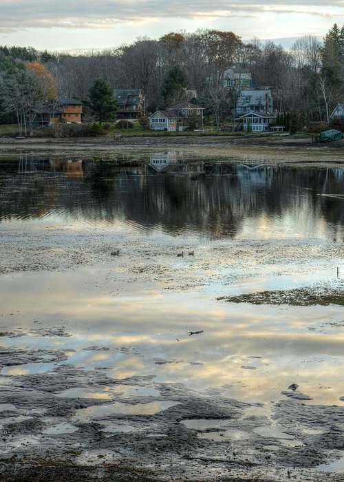 Mud Greeting Card featuring the photograph Low Water At Lake Garfield by Geoffrey Coelho