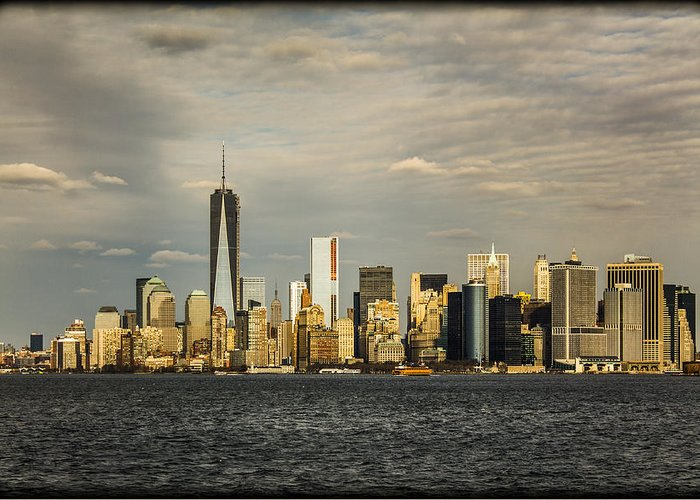 Nyc Greeting Card featuring the photograph Lower Manhattan 1 by Tony Maduro