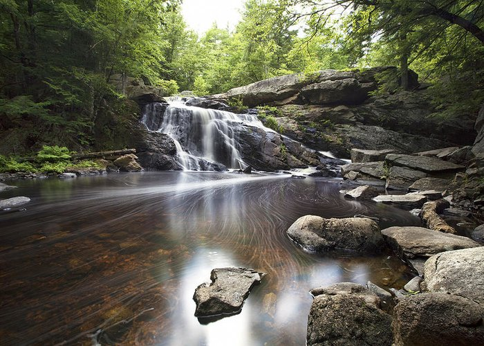 Lower Purgatory Falls Greeting Card featuring the photograph Lower Purgatory Falls by Eric Gendron
