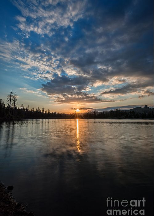 Lower Greeting Card featuring the photograph Lower Sunset Lake by Dianne Phelps