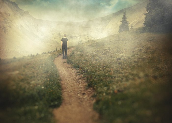 Surreal Greeting Card featuring the photograph Lucid Dream by Taylan Apukovska