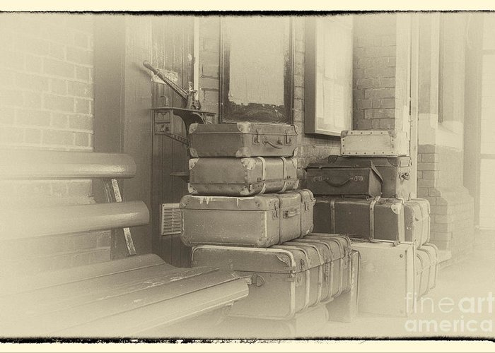 Historical Greeting Card featuring the digital art Luggage by Paul Stevens