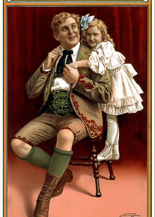 Vintage Poster Greeting Card featuring the painting Lullaby Yodel by Terry Reynoldson