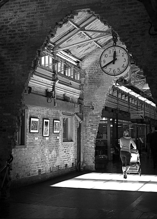 New York City Greeting Card featuring the photograph Lunchtime At Chelsea Market by Rona Black