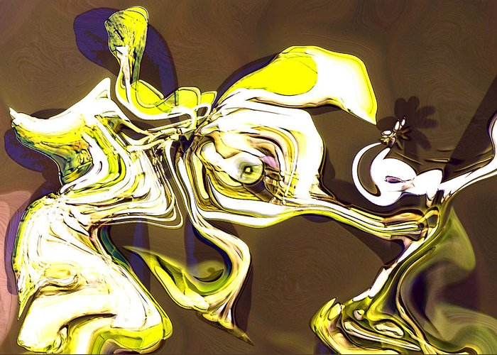 Abstract Greeting Card featuring the digital art Lust Story by Richard Thomas