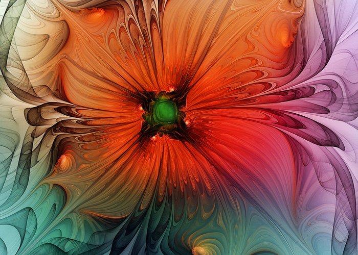 Oranger Digital Art Greeting Cards