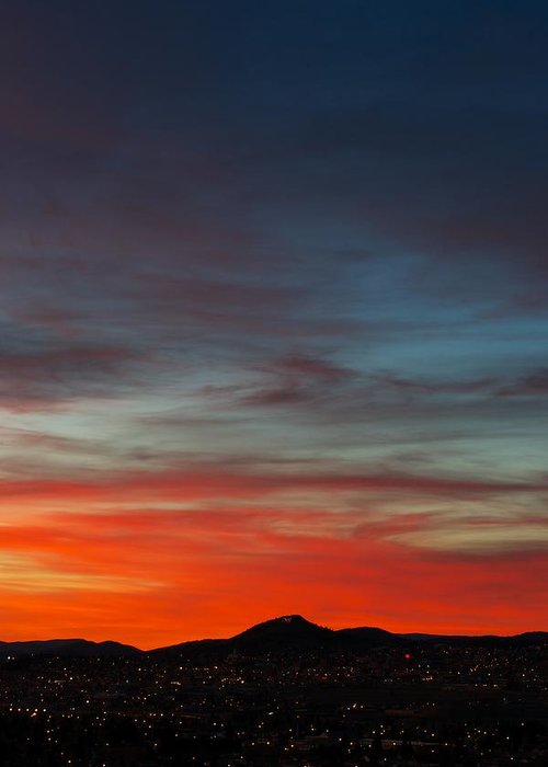 Sunset Greeting Card featuring the photograph M On Fire by Kevin Bone