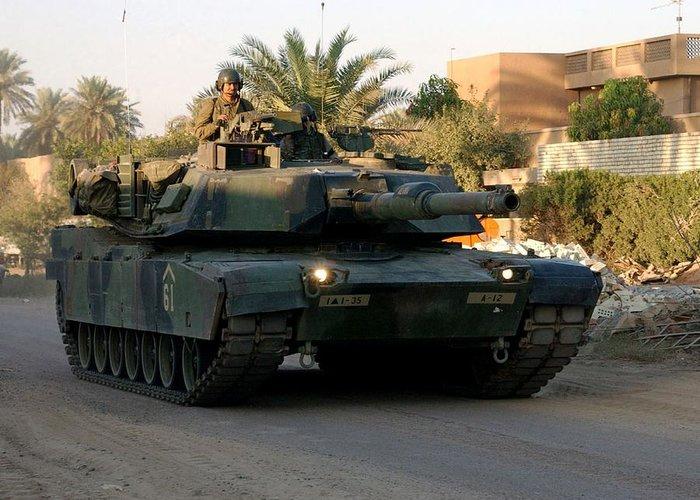 M1 Abrams Tank Urban Patrol Greeting Card