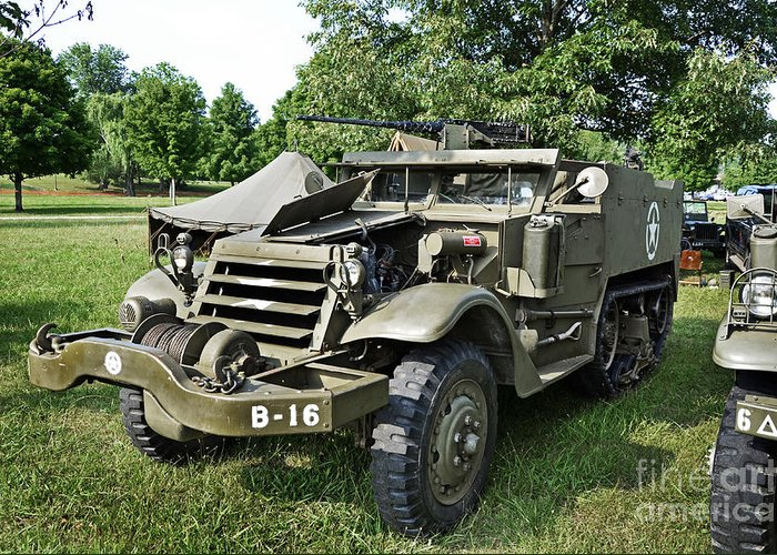 Half-track M3 Greeting Card featuring the photograph M3 Half-track by Paul Mashburn
