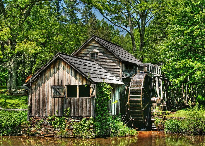 Mabry Mill Greeting Card featuring the photograph Mabry Mill by Heather Allen