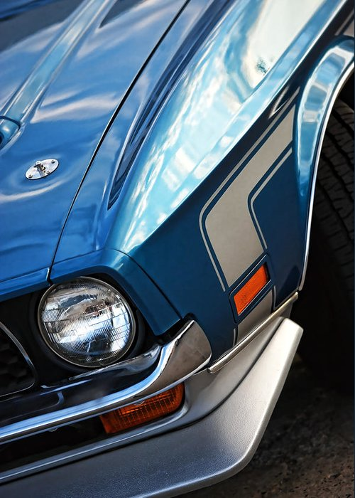 Greeting Card featuring the photograph Mach 1 Ford Mustang 1971 by Gordon Dean II