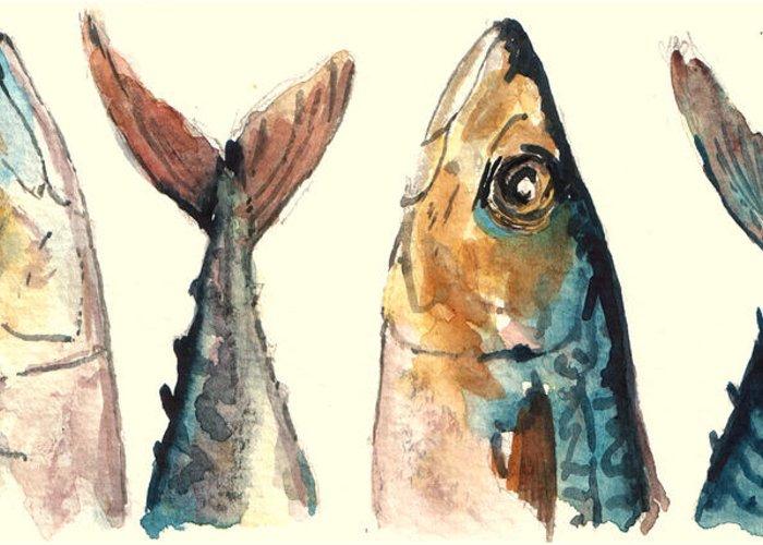 Pelagic Fish Greeting Cards