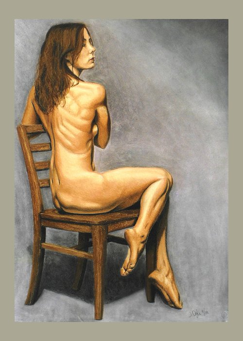 Joe Ogle Greeting Card featuring the pastel Madame Brooke by Joseph Ogle