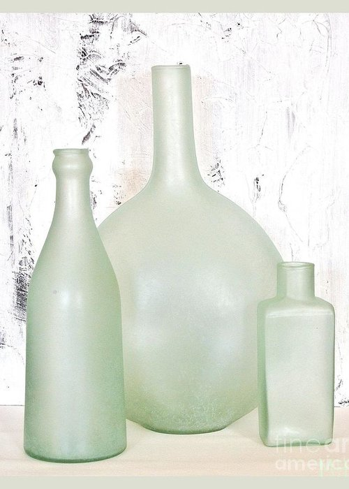 Photo Greeting Card featuring the photograph Made In India Sea Glass Bottles by Marsha Heiken