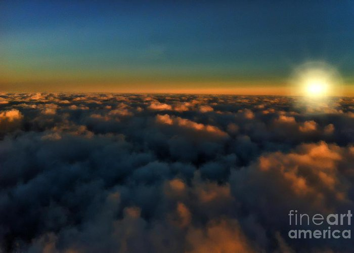 Sunset Greeting Card featuring the photograph Madison Wi Sunset At 30000 by Tommy Anderson