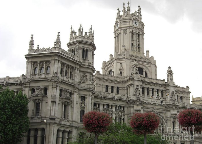 Madrid Greeting Card featuring the photograph Madrid City Hall by Deborah Smolinske