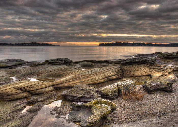 Landscape Greeting Card featuring the photograph Madrona Point by Randy Hall