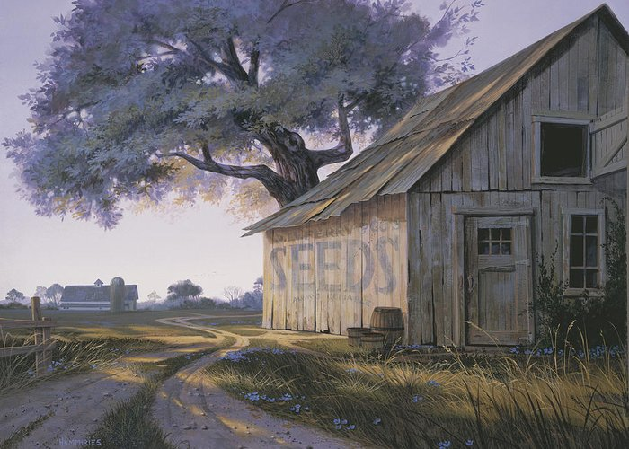 Old Country Roads Paintings Greeting Cards