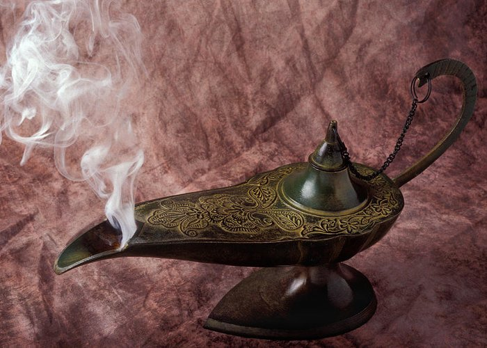Lamp Greeting Card featuring the photograph Magic Lamp by Garry Gay
