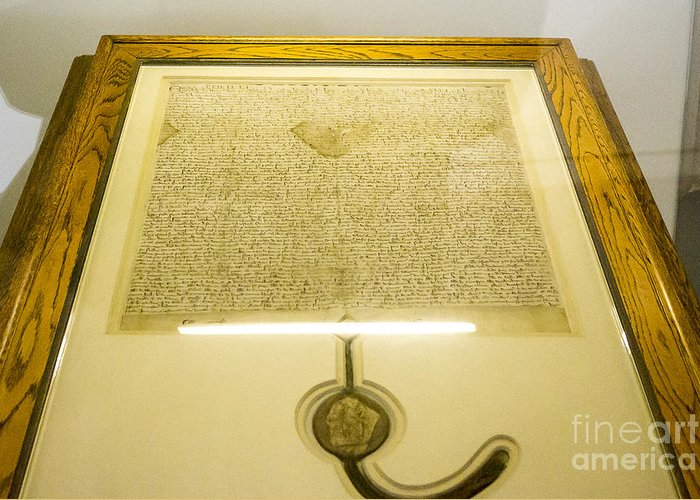 Australia Greeting Card featuring the photograph Magna Carta by Steven Ralser