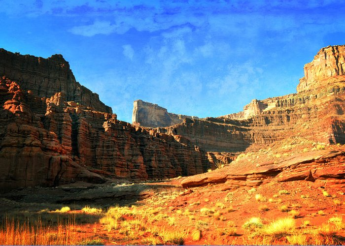 Canyonlands National Park Greeting Card featuring the photograph Magnificent Butte by Marty Koch