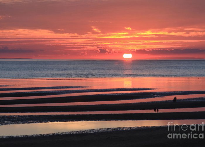Sunset Greeting Card featuring the photograph Magnificent Sunset by Jayne Carney