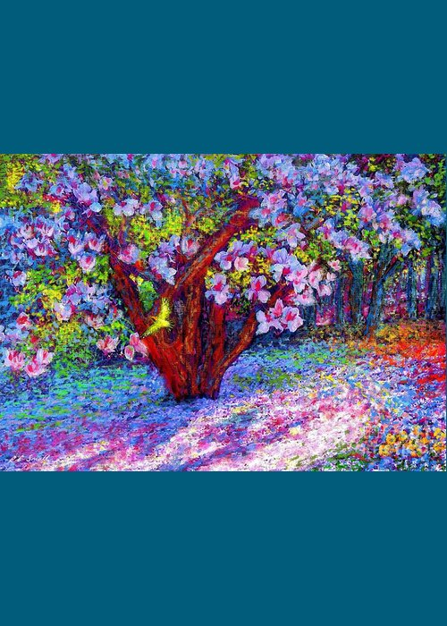 Magnolia Greeting Card featuring the painting Magnolia Melody by Jane Small