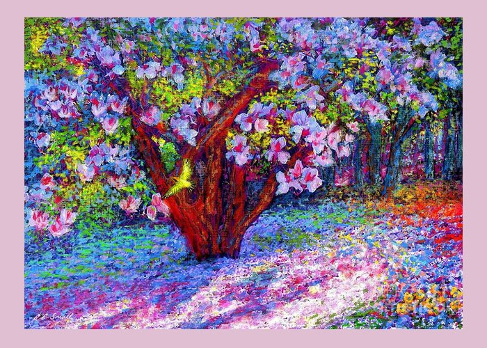 Pink Blossoms Paintings Greeting Cards