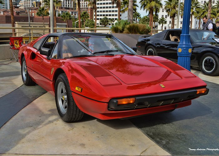Ferrari 308 Gtb Greeting Card featuring the photograph Magnum Pi by Tommy Anderson