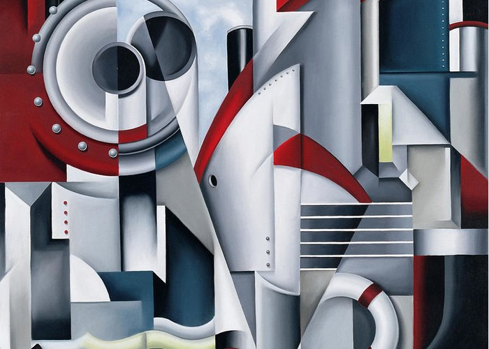 Maiden Greeting Card featuring the painting Maiden Voyage by Catherine Abel