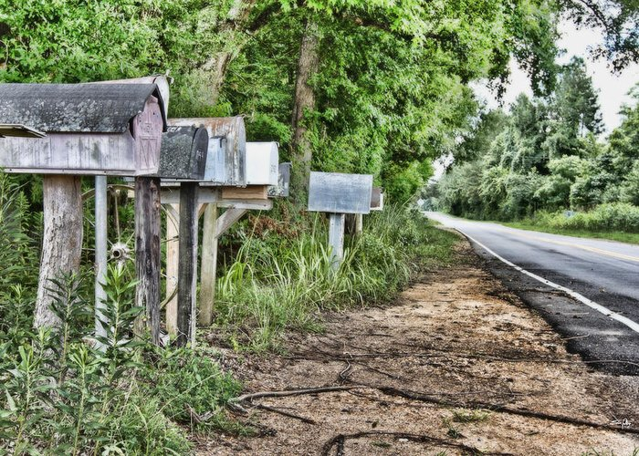 Mail Route Greeting Card featuring the photograph Mail Route by Scott Pellegrin