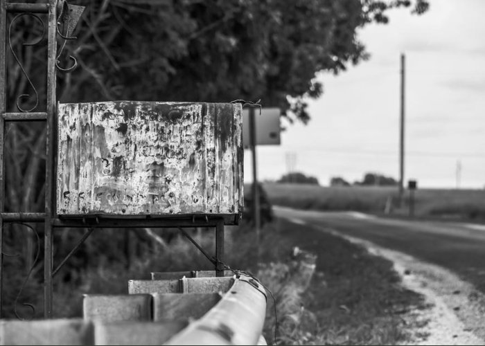 Country Greeting Card featuring the photograph Mailbox 1 by Gunnar Campbell